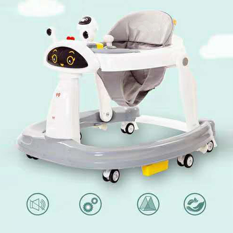 2 in 1 baby walker simple big size plastic musical toy Baby safe Multi-function unique baby walker