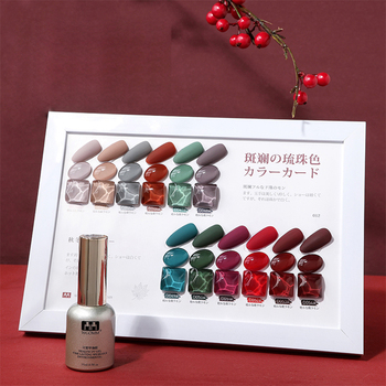 2020 High quality 12 colors set finger nail polish uv gel polish 15ml uv led gel polish kit