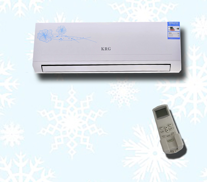 Electric &thermal hybrid acdc powered split ac air conditioner 48v dc power wall mounted room conditioners