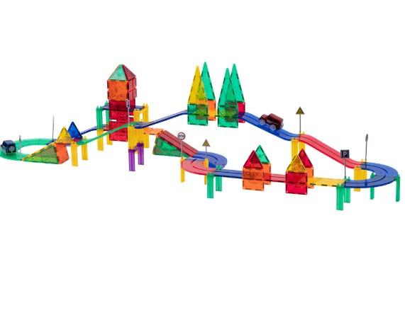 Интеллектуальные детские строительные блоки пластиковая игрушка-пазл трек игрушки