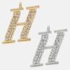 H - 18k gold or rhodium