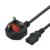 SIPU supply America power cable 3 round pin power cord Plug ac female ends UK power cord