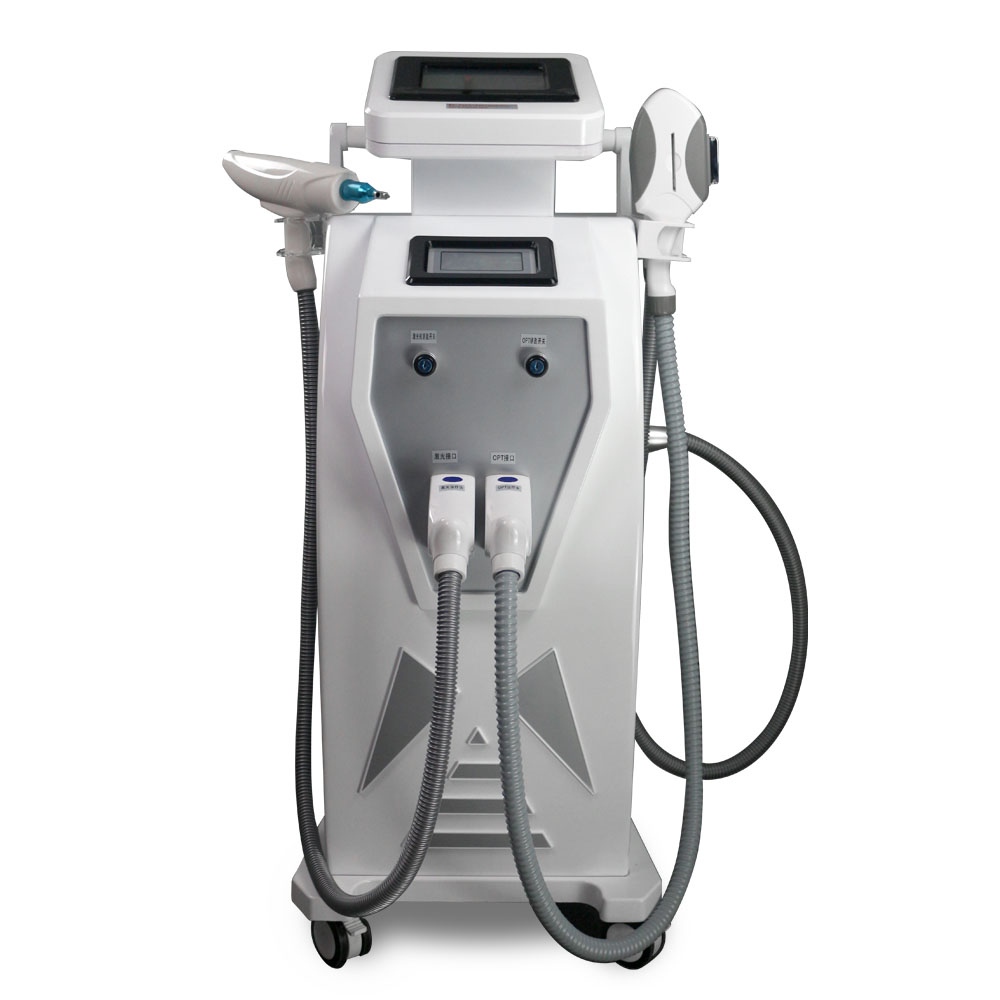 3 In 1 SHR IPL Laser Hair Removal Machine OPT SHR IPL Skin Rejuvenation Nd Yag Laser Tattoo Removal