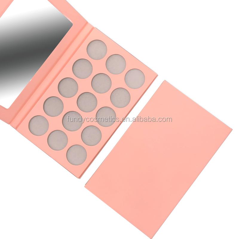 Wholesale cardboard eyeshadow palette empty makeup eyeshadow palette