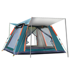 Family Outdoor Tourist Tent 4-person Family Camping Double-decker Tent Multi-person Hiking Portable Camping Tent