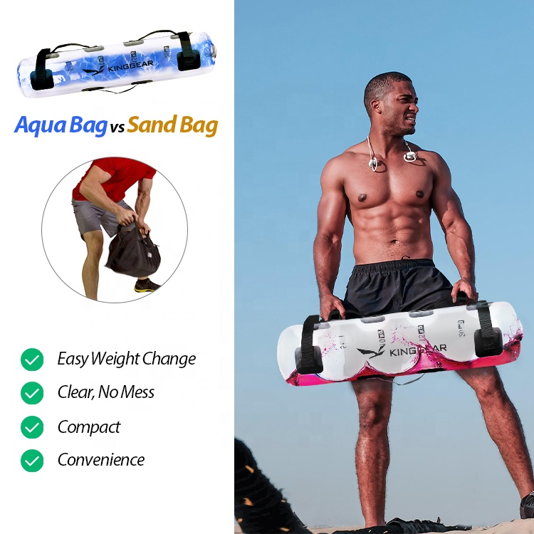 KingGear портативный стабильный Фитнес-Оборудование Регулируемый Фитнес-мешок с водой