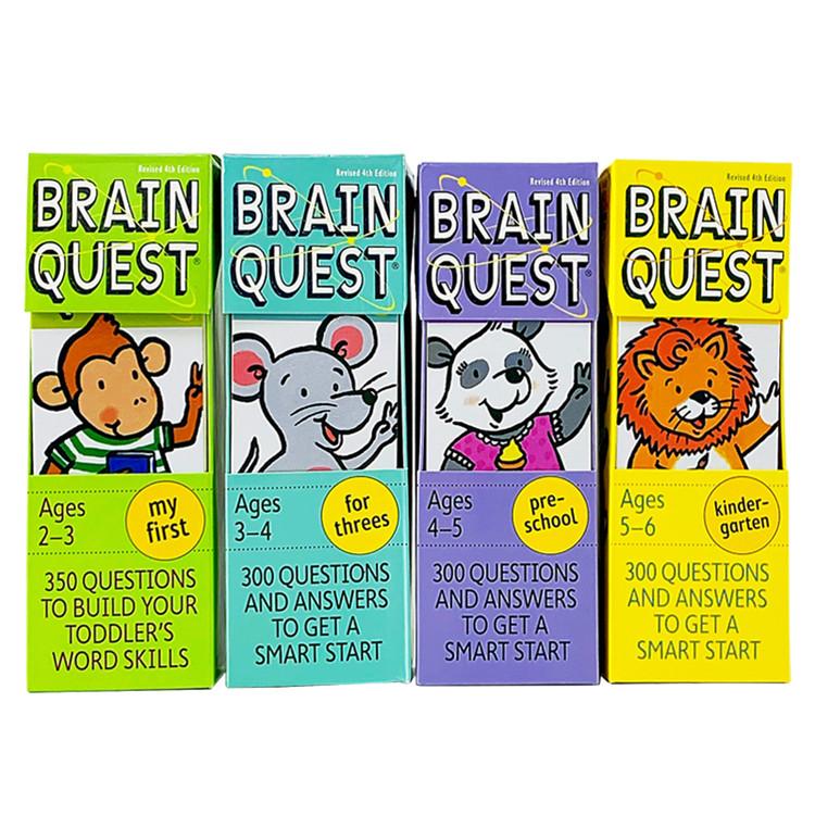 Brain Quest Hot Selling Board Book Set Children Board Book Children Early Education Cognitive Card