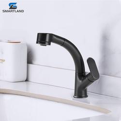 Новый дизайн, смеситель для раковины с керамическим картриджем на 360 градусов для ванной комнаты