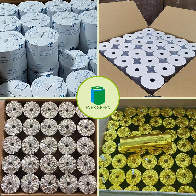 Thermal paper 80x80 80x70 80x60 thermal receipt paper roll 50 rolls per carton