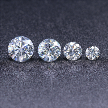 Gemstone Free fire diamond VVS 6.5mm 1ct DEF color Synthetic white fake diamond pink moissanites loose moisanite diamonds