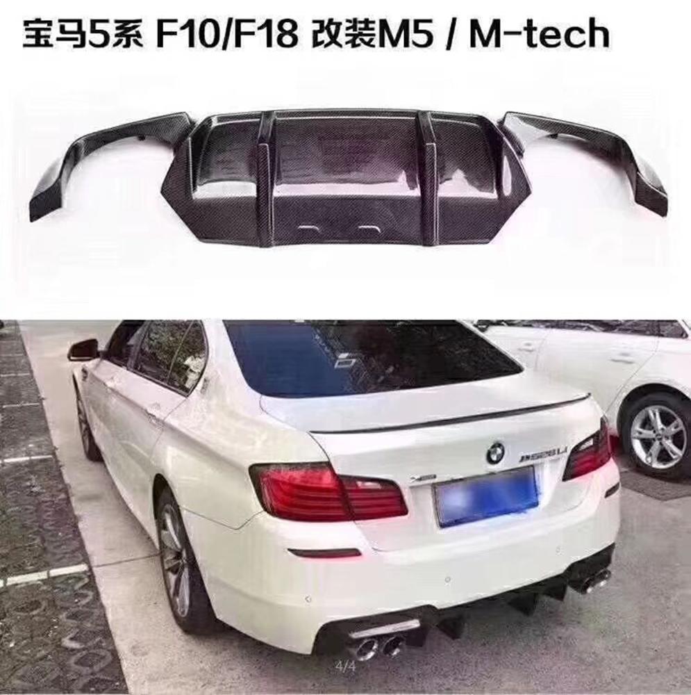 pianaiBB Difusor De Parachoques Trasero De Coche De Fibra De Carbono para BMW F10 M5 Sedan 2012-2017 Aler/ón De Labios De Parachoques De Coche De Fibra De Carbono