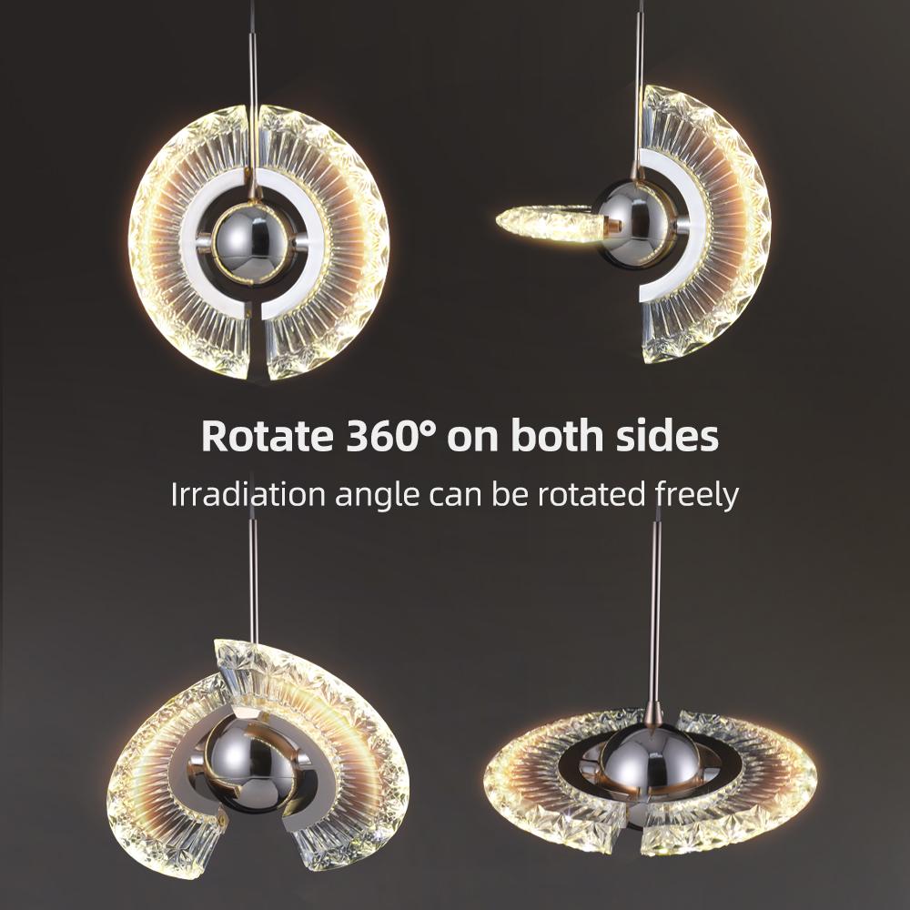 Новая стильная акриловая светодиодная Подвесная лампа, Современная круглая декоративная люстра для комнаты, освещение для ресторана