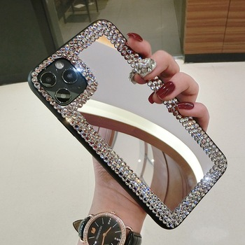 HOCAYU Luxury Glitter Shine Crystal Diamond Mirror Phone Case For Iphone 11 12 Pro Max Xr Xs Max 8 7 Girl Phone Cover