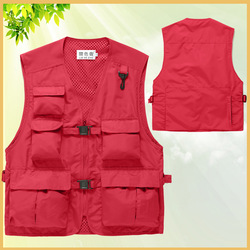 Customized Multi-pockets Workwear Men's Summer Outdoor Casual Utility Journalist Fishing Vest for Photography