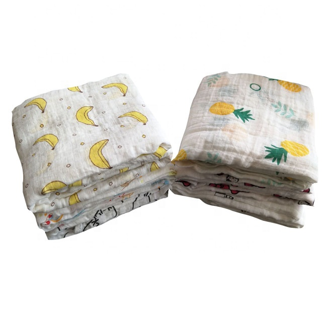 100% cotton printed muslin fabric from china