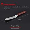 6 inç kavisli spatula ile ahşap kolu