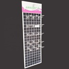 Metal Wire Mesh Hanging Dipslay Rack With Hooks For Hanging Accessories Products In Stores