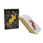 99.9% pure 24 Carat Gold poker and double decks with Customized support card