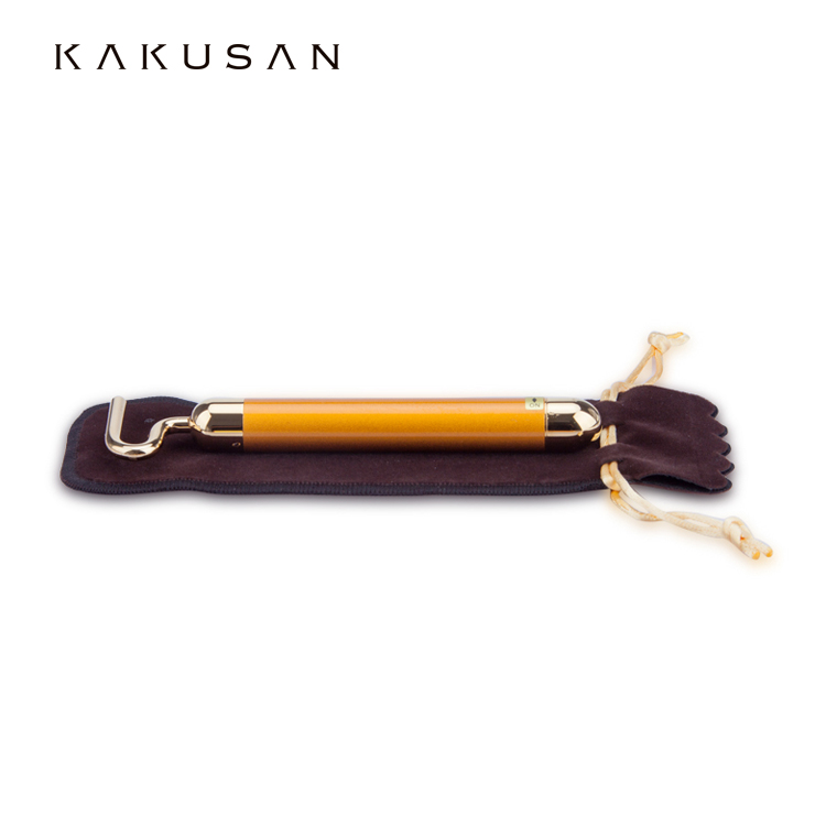 KAKUSAN Vibration Face Massager 24K Gold Plated Beauty Bar Bullion Bars