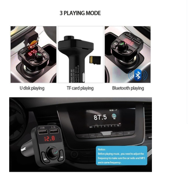 Auto Radio Music Adapter Dual USB handsfree kit car charger Mp3 Player Bluetooth FM transmitter for car