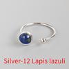 Silver-12 lapis lazuli