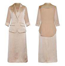 Женское платье, костюм из двух предметов, Блейзер, пиджак, элегантная женская офисная одежда, модельная Высококачественная Деловая одежда(Китай)