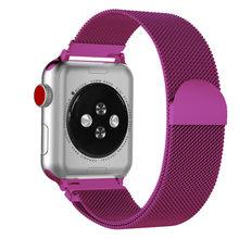 Хохлатый ремешок apple watch band Milanese Loop apple watch 4 3 band iwatch band 42 мм 38 мм correa 44 мм/40 мм pulseira bracelet(Китай)