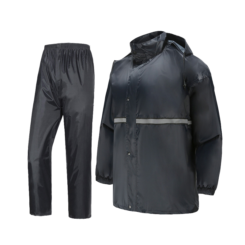Низкая цена, Заводская поставка, уличный защитный отражающий дождевик с разрезом, толстовка, дождевик, штаны