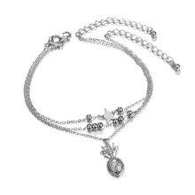 Богемные волны океана КИТ хвост ножной браслет браслеты для женщин пляж Серебряный ножной браслет на ногу летние ювелирные изделия(Китай)