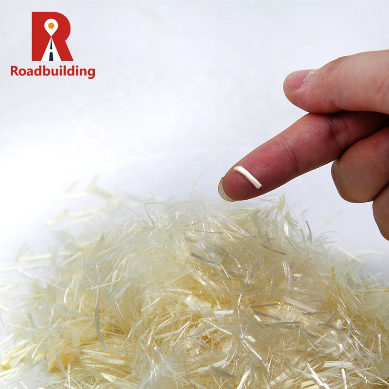 Индия, 3 мм, натуральное полипропиленовое штапельное волокно для добавки бетона
