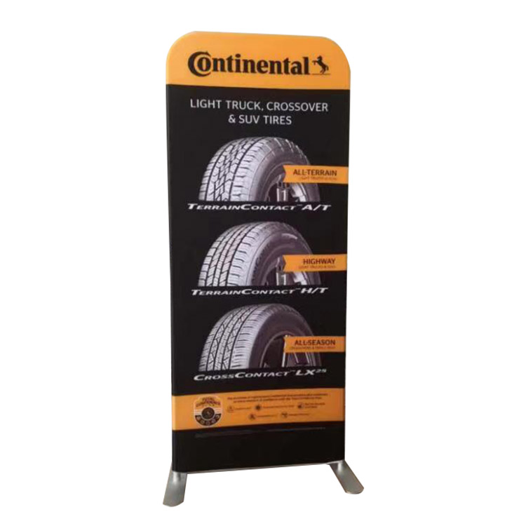 Quick Tension Fabric stand Retractable Portable Aluminum Tube Trade Show Banner Stand Display For Exhibition
