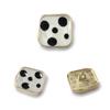 8898#Mat gold&White  18mm