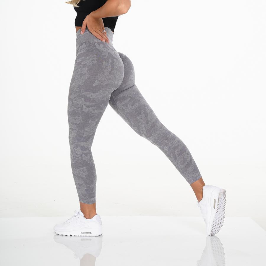 Custom high waisted workout seamless leggings high quality squat proof camo gym leggings for women