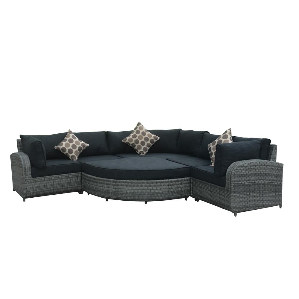 Диван из ротанга для патио, мебель, угловой диван-кровать