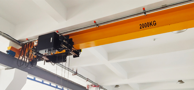 upgrade 2 ton Euro-style single girder beam bridge crane with DRS modular wheel blocks in workshop for material handling price