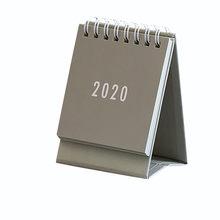 Настольный мини-календарь с Откидывающейся Крышкой и календарем 2020, ежедневный ежедневник, органайзер для дома, школы, офиса, Аксессуар(Китай)