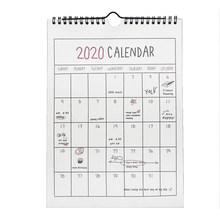 Календарь 2020, подвесной календарь, памятка, ежемесячная Личная школа планирования, год, семейные настенные календари для украшения дома и о...(Китай)