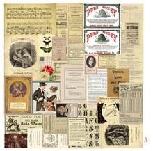 Винтажные Стикеры из крафтовой бумаги, Старый плакат, иллюстрация, журнал, материал, древний узор, дневник, наклейка, сделай сам, скрапбукинг(Китай)