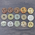 Mixed batch gemstone donuts Carved Stone Charms Jade Pendant for Jewelry Making Rare Jade