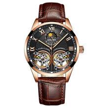 AILANG оригинальные Брендовые мужские часы, роскошные механические часы с двойным турбийоном и стальным ремешком, модные автоматические часы(Китай)