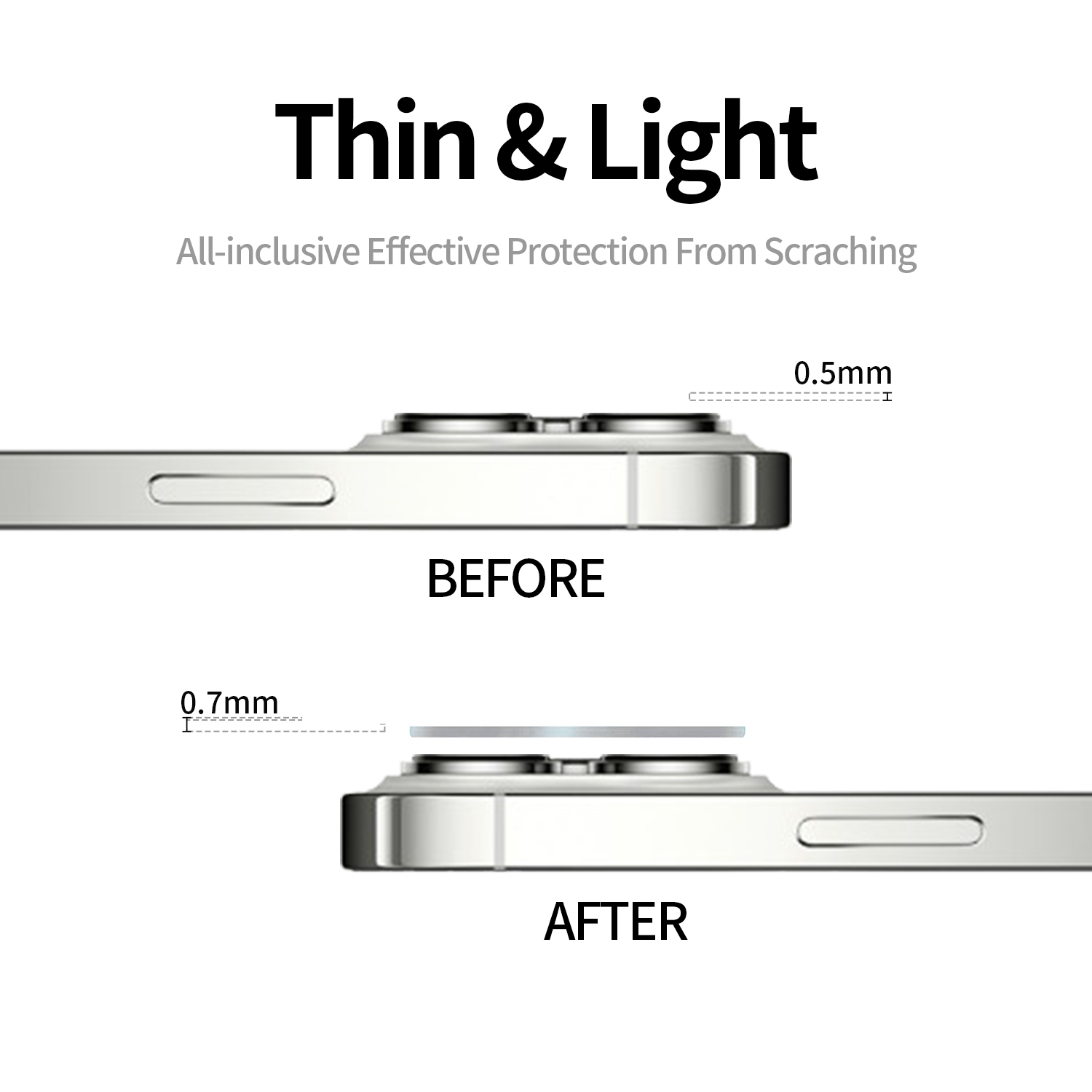 Amazon Hot Sale Full Glue Cover HD Clear Back Screen Tempered Glass Camera Lens Film Protector for iPhone 13