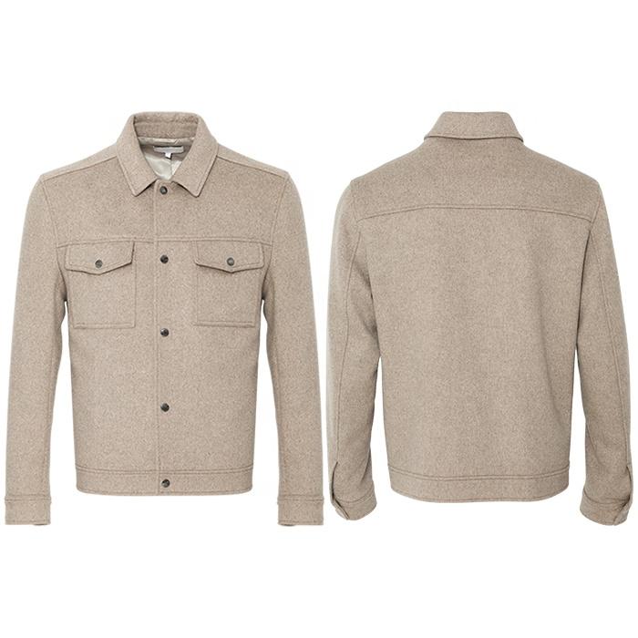Huiquan Стильная мужская куртка из смешанной шерсти, опт, повседневный стиль, мужская куртка из смешанной шерсти