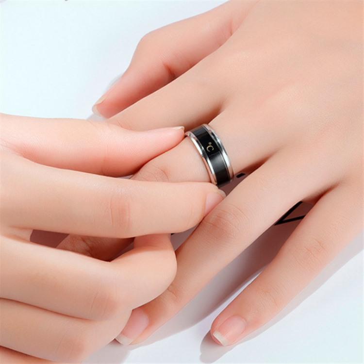 Technology Jewelry Temperature Measuring Smart Ring Titanium Steel Intelligent Sensor Body Temperature Smart Ring