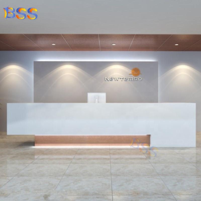 4 человека белый мрамор Коммерческая офисная Стоматологическая стойка регистрации