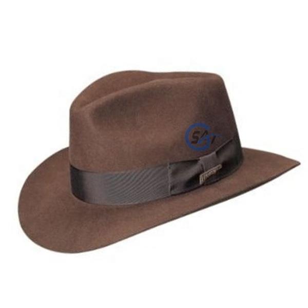 56-58cm Farbe : Blau, Gr/ö/ße : 56-58CM XinQuan Wang Wollfilz Fedora Cowboy Hut Einfarbig Fedora Hut Western Cowboy Jazz Sonnenhut Herren Damenhut