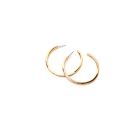 Plated Gold Hoop Earrings Goldgold Earrings Hoop Trendy Fashion Simple Plated Gold Round Circle Hoop Earrings