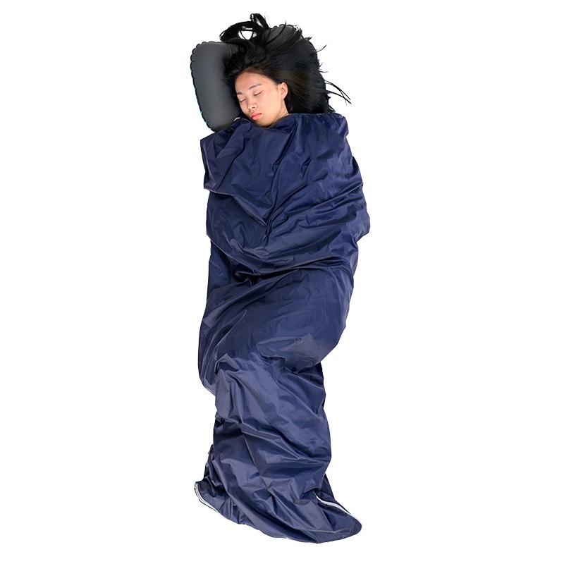 Wholesale outdoor ultralight mini over night sleeping bag travel hiking soft warm customized logo cotton sleep bag