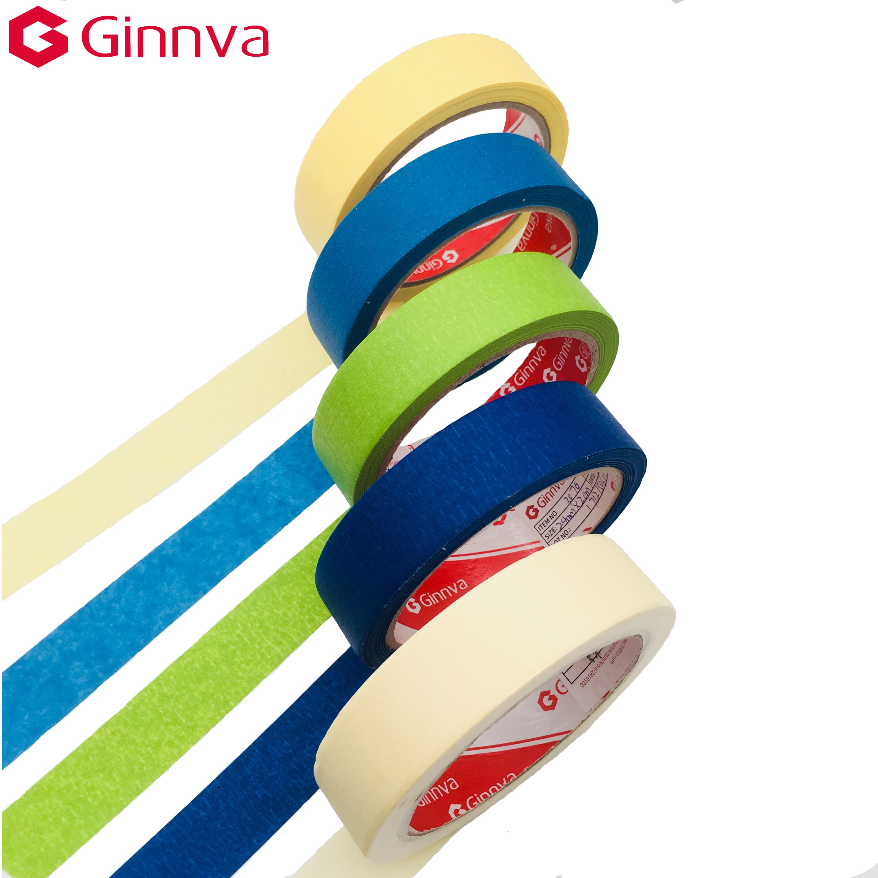 Ginnva Jinghua tape europe crepe paper masking tape home decoration