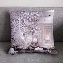 Подушка Чехол размером 45*45 см из хлопка и льна с Рождеством диван Спальня Рождественский Чехол на подушку украшение для дома Подушка Чехол ...(Китай)
