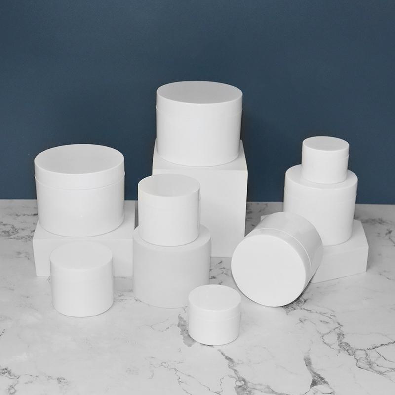 Custom plastic PP pink blue cosmetic cream jar 15g Use Skin Care Cream